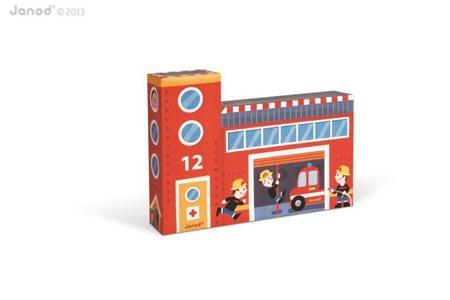Straż pożarna zestaw drewniany Story Box, Janod