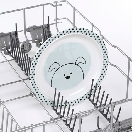 Talerz dla dzieci do jedzenia z melaminy Little Chums Pies, Lassig