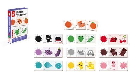 Trzyczęściowe puzzle Kolory 30 elementów, Janod