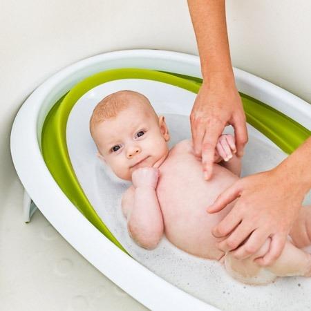 Wanienka dla niemowlaka - składana na płasko wanna do mycia niemowląt Green, BOON