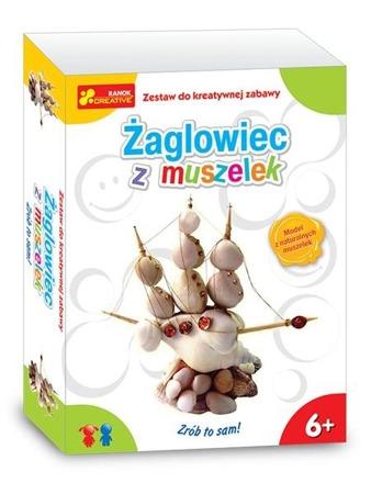 Żaglowiec z muszelek - DIY dla dzieci. Zabawa plastyczna / kreatywna na lato. Ranok-Creative