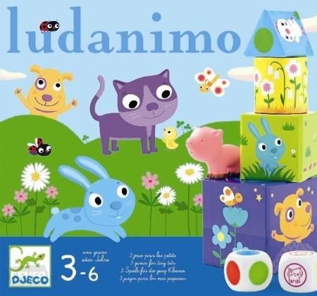 Zestaw 3 gier, Ludanimo - wyścigi, memo, balans, gry dla dzieci 3 lata +, DJECO DJ08420