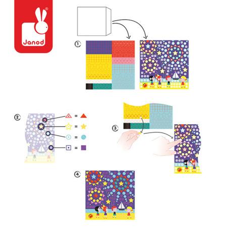 Zestaw artystyczny Karty z naklejkami Uroczystości rodzinne, Janod