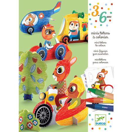 Zestaw artystyczny dla dziecka do składania - pojazdy DJECO, DJ09862