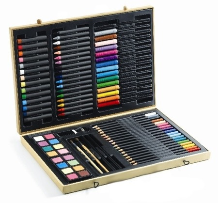 Zestaw kredek i flamastrów - duży zestaw artystyczny w walizce, DJECO