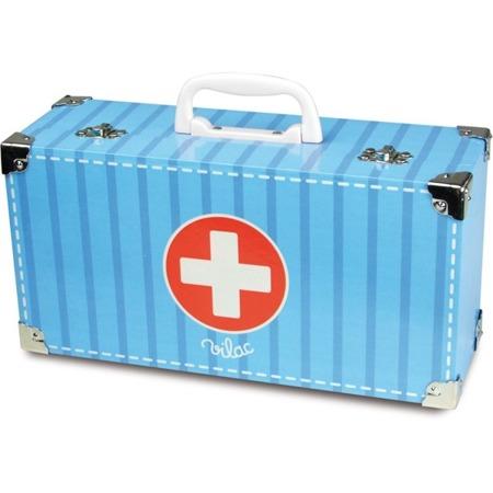 Zestaw lekarski dla dzieci w walizce - łóżko pacjenta + akcesoria, VILAC VIL-06312